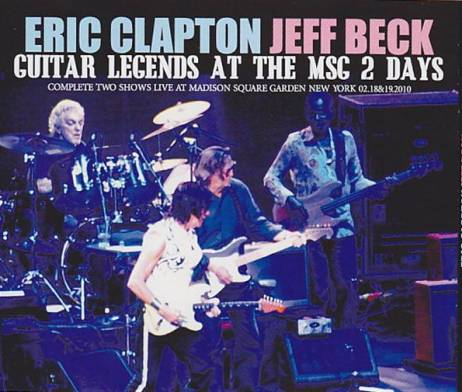 Eric Clapton Jeff Beck Guitars Legends At The Msg 2 Days 4pro Cdr