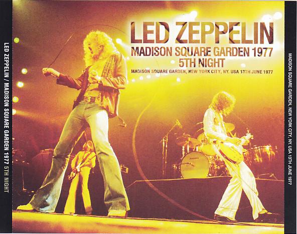 Led zeppelin madison square garden 1977 5th night 3pro cdr non label discjapan for Led zeppelin madison square garden