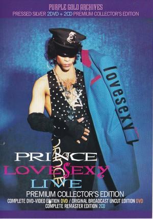 Prince Lovesexy Live Premium Collectors Edition 2cd