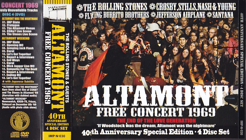 Rolling Stones, The & Guests - Altamont Free Concert 1969 40th Anniversary  Special Edition (3CD+1Pro-DVDR With OBI Strip) Idol Mind